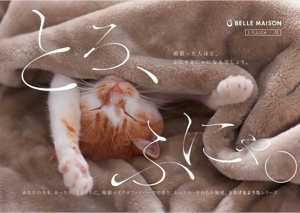 """【11/1~先着プレゼント】""""とろふにゃ""""猫の投稿で「とろけるような枕カバー」を全国のネコリパでプレゼント!"""